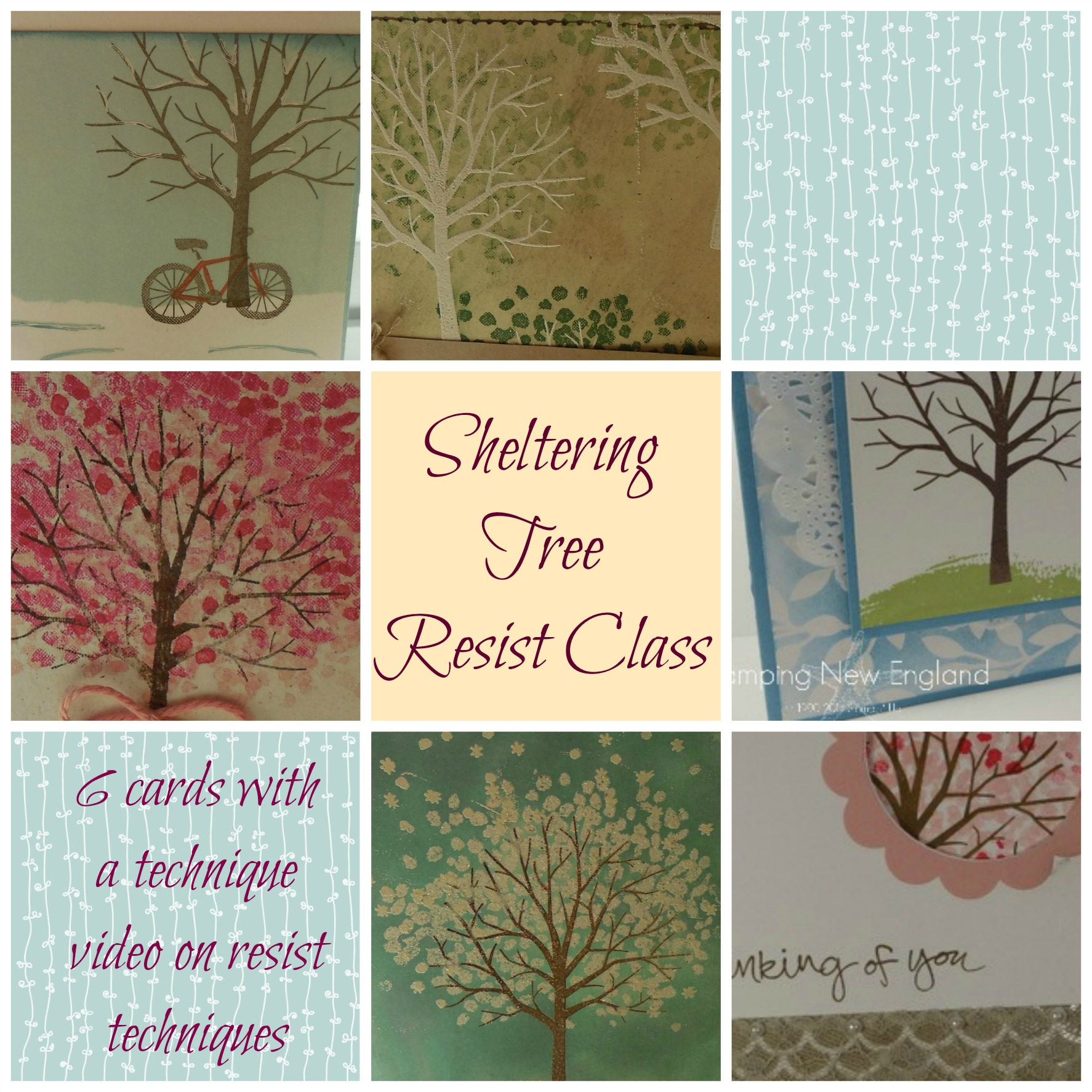Sheltering Tree Resist Collage