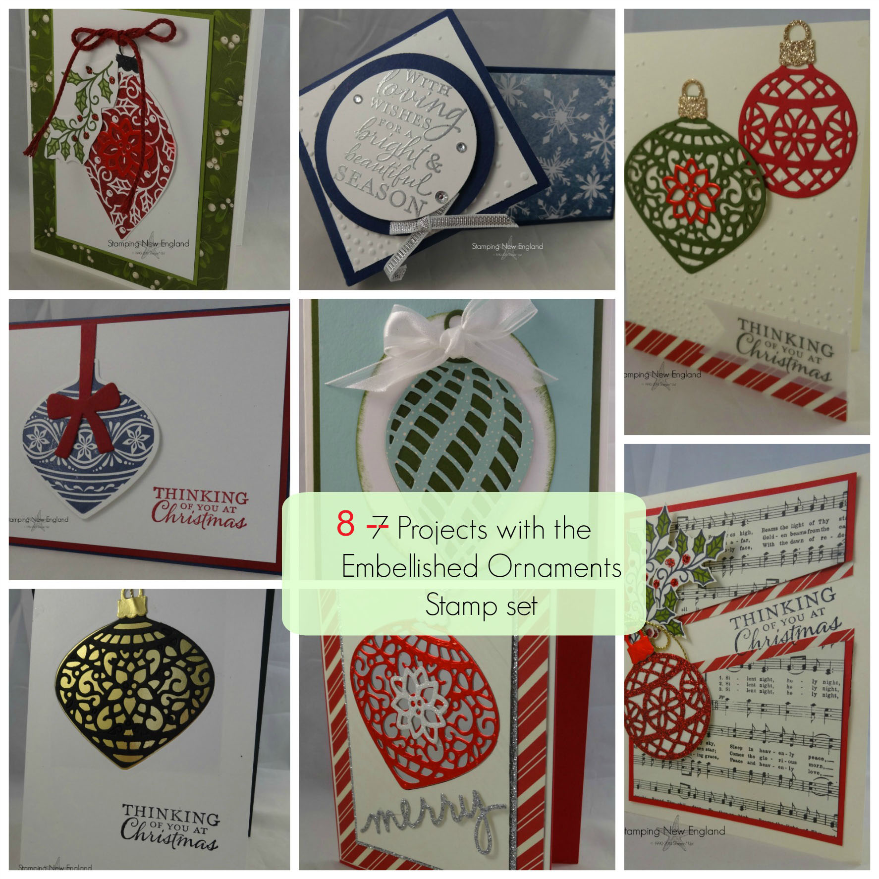 Embellished Ornaments Collage