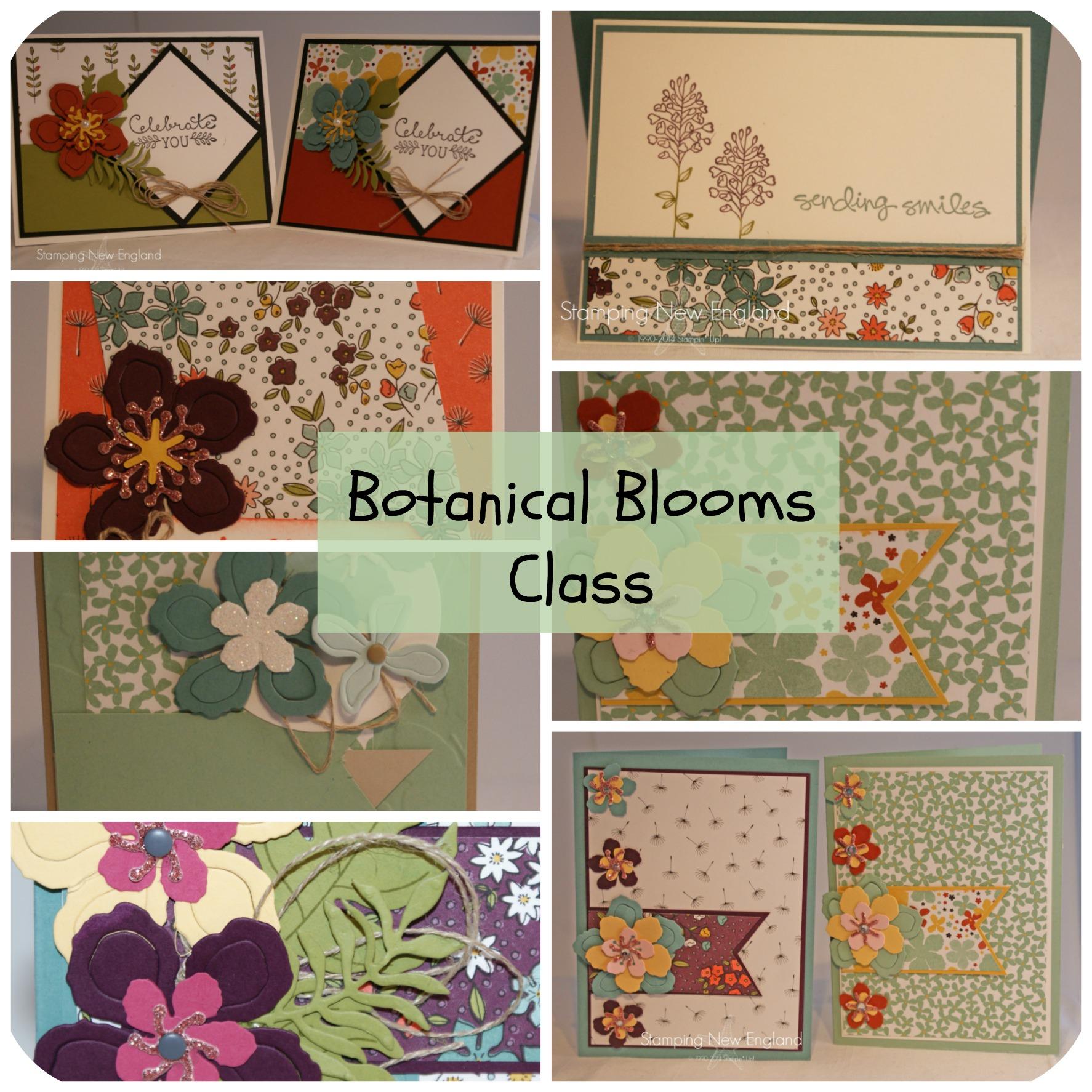 Botanical Blooms Collage