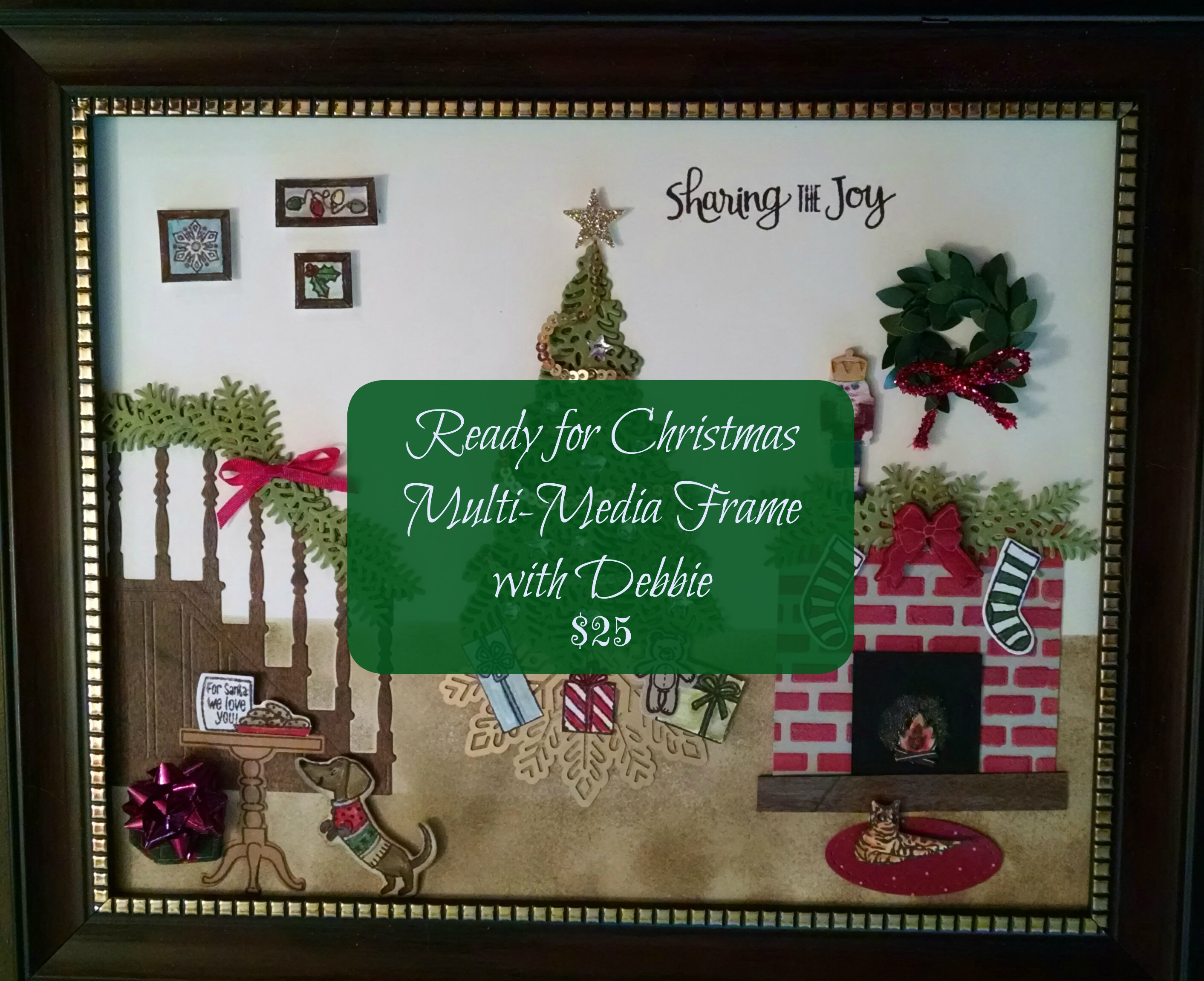 Christmas multi media frame